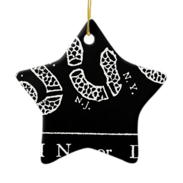 USA Themed Join Or Die Ceramic Ornament