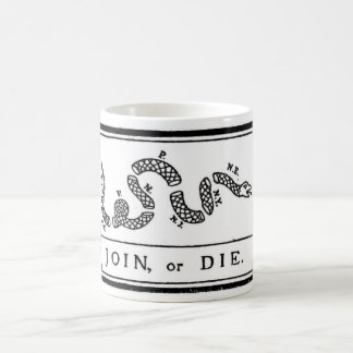 Join or Die Flag for American Revolutionary War Classic White Coffee Mug