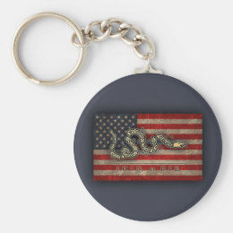Join, Or Die -Flag Keychain