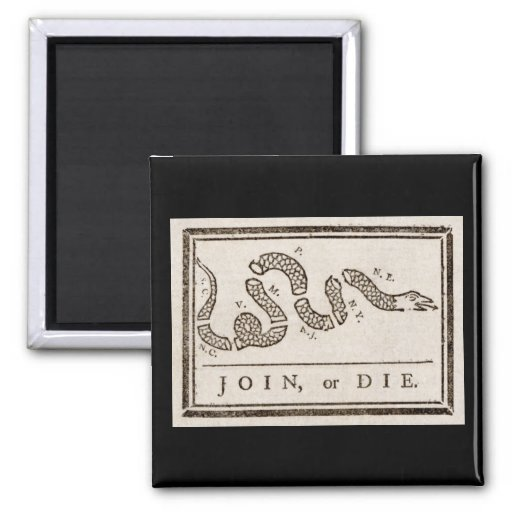 Join, or Die Flag Magnets