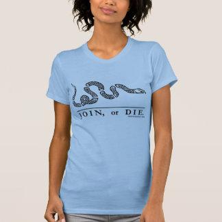 Join or Die Ladies Petite t-shirt