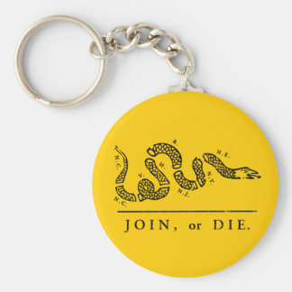 Join or Die - Libertarian Keychain