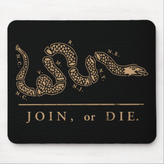 Join or Die Libertarian  Mouse Pad