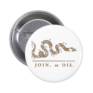 Join or Die Libertarian  Pinback Button