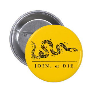 Join or Die - Libertarian Pinback Button