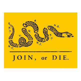 Join or Die - Libertarian Postcard