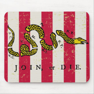 Join or Die Mousepad