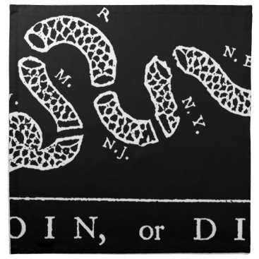 USA Themed Join Or Die Napkin
