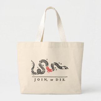 JOIN, or DIE New Jersey Jumbo Tote Bag