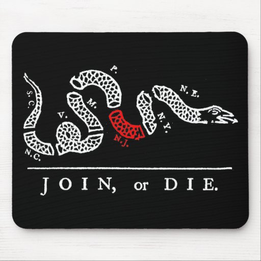 JOIN, or DIE New Jersey Mousepad