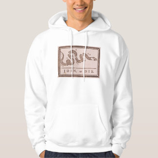 Join or Die ORIGINAL Benjamin Franklin Cartoon Hoodie