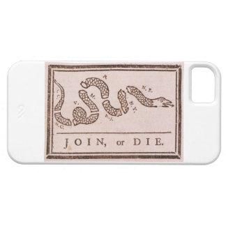 Join or Die ORIGINAL Benjamin Franklin Cartoon iPhone SE/5/5s Case