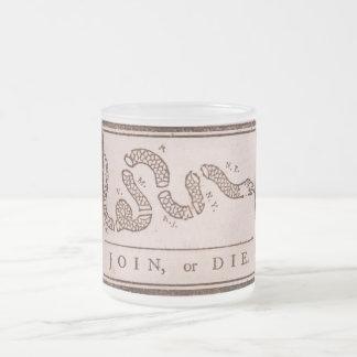 Join or Die ORIGINAL Benjamin Franklin Cartoon Coffee Mug