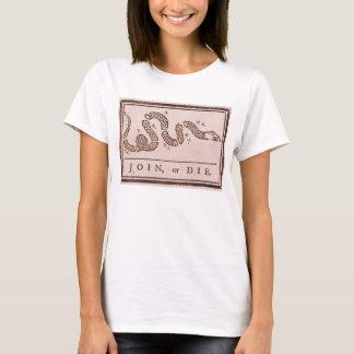Join or Die ORIGINAL Benjamin Franklin Cartoon T-Shirt