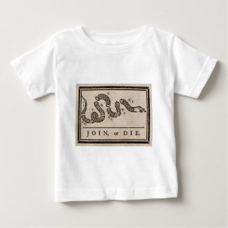 Join or Die Political Cartoon by Benjamin Franklin Baby T-Shirt