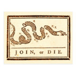 Join or Die Post Card