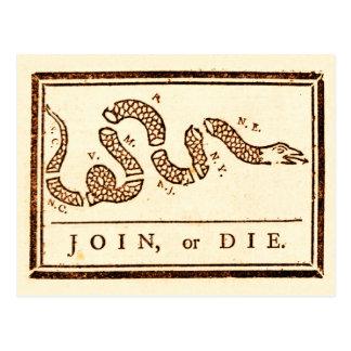 Join or Die Postcard