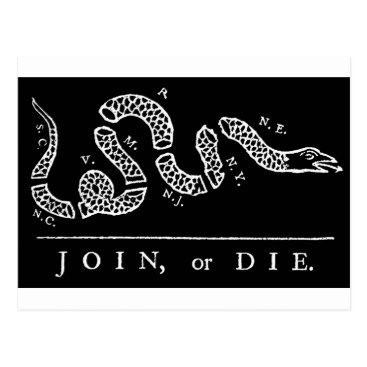 USA Themed Join Or Die Postcard