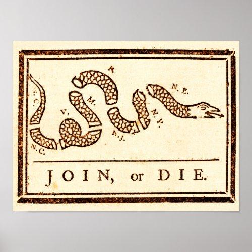 Join or Die Print print