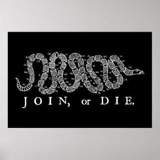 Join or Die Print