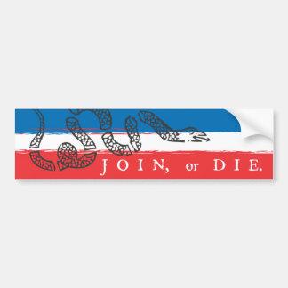 Join or Die - Red & Blue Bumper Sticker