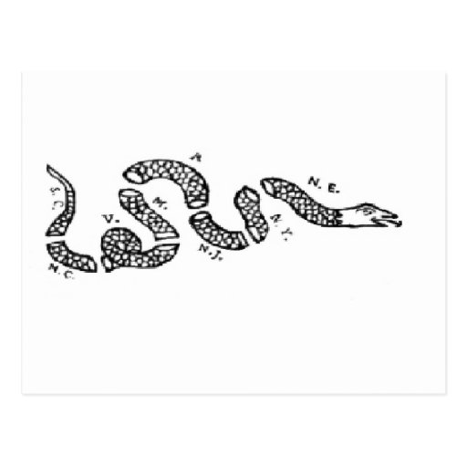 Join Or Die Snake Only Join Or Die Postcards ...