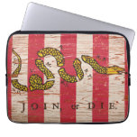 Join or Die Sons of Liberty Electronics Bag Laptop Computer Sleeves