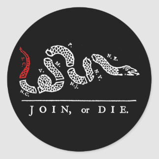 JOIN, or DIE South Carolina Classic Round Sticker