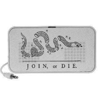 JOIN, or DIE Speaker (white)