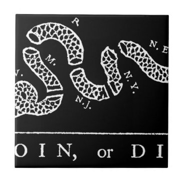 USA Themed Join Or Die Tile