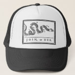 Join, Or Die Trucker Hat at Zazzle