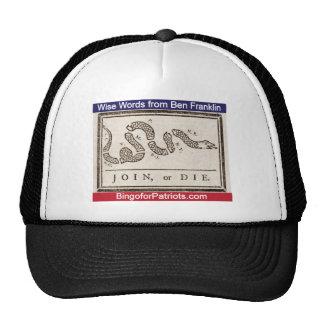 Join or Die Trucker Hats