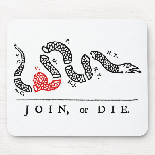 JOIN, or DIE Virginia Mouse Pad