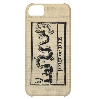 Join Or Die Woodcut on Declaration of Independence iPhone 5C Cases