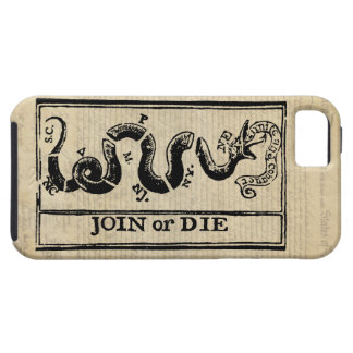 Join Or Die Woodcut on Declaration of Independence iPhone 5 Case