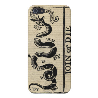Join Or Die Woodcut on Declaration of Independence Cases For iPhone 5