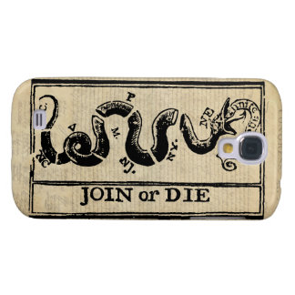 Join Or Die Woodcut on Declaration of Independence Samsung S4 Case