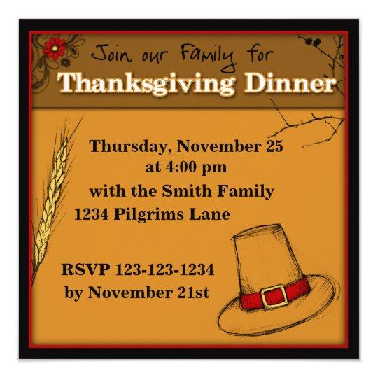 Join our family Thanksgiving invitation Dinner
