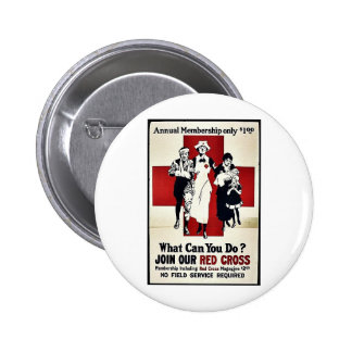 Join Our Red Cross Pinback Button
