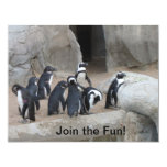 Join Penguins Party Invitation