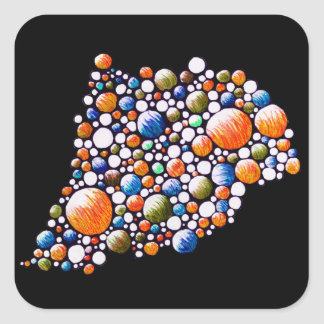 Join - sticker with colorful stylish space bubble