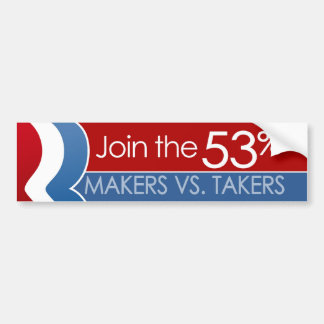 Join the 53 percent bumper stickers