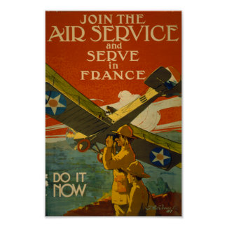Join the Air Service and Serve in France Poster