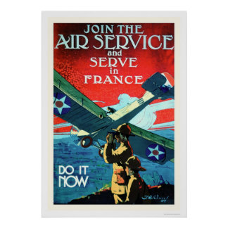 Join the Air Service and Serve in France (US02052) Poster