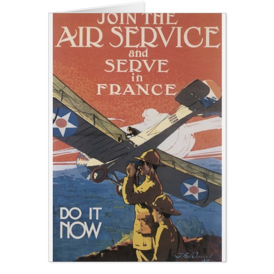 """Join the Air Service"" circa 1917 Card"