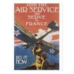 """Join the Air Service"" circa 1917 Postcard"