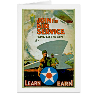 Join The Air Service ~ Give 'Er The Gun Card