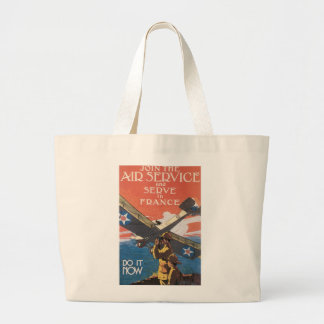 Join the Air Service Large Tote Bag