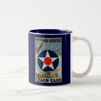 Join The Air Service Two-Tone Coffee Mug