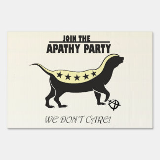 Join the Apathy Party/TweedleBama & TweedleMitt Lawn Sign
